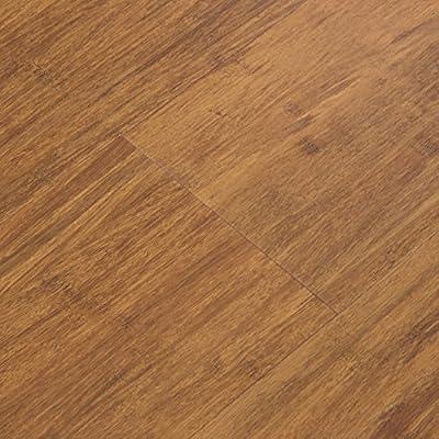 Cali Bamboo - Cali Vinyl Plus Cork-Backed Vinyl Floor, Extra Wide, Java Brown Wood Grain - Sample