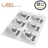 LABEL&MORE 6-up Labels 3-1/3'' x 4'' Self Adhesive FBA Labels For Internet Postage and Shipping Address Compatible With Laser and Inkjet Printers[100 Sheets 600 Labels]