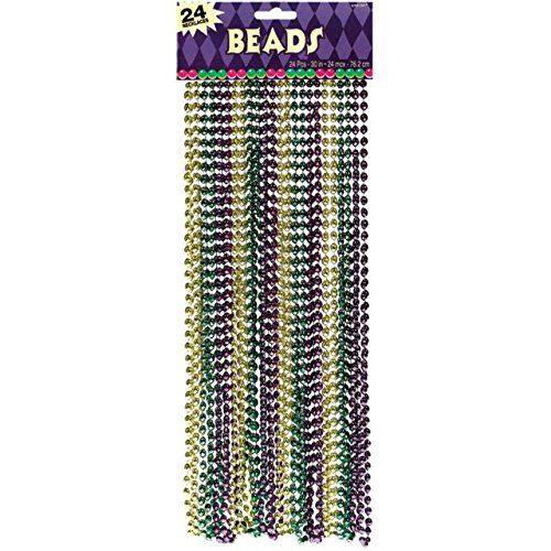 Amscan Mardi Gras Bead Necklaces Costume Party Accessory,