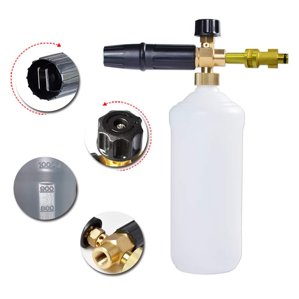 110,115 1200 Plus arandela a presi/ón Pistola de espuma//generador de espuma//boquilla de espuma//espuma de jab/ón de alta presi/ón para Bosch AQUATAK 100 ECO