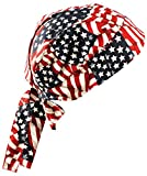 24PCK-Deluxe Tie Hat - Elastic and Foam Backed W/ FR Treatment - WVYFLAG-One-Size