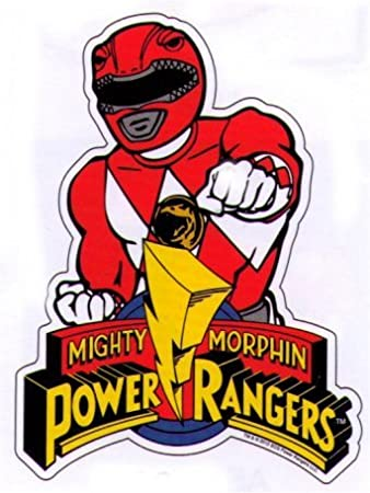 Amazon com mighty morphin power rangers red ranger sticker toys games
