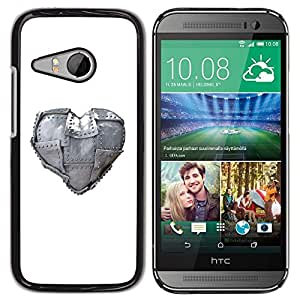 LECELL -- Funda protectora / Cubierta / Piel For HTC ONE MINI 2 / M8 MINI -- Metal Heart Love --