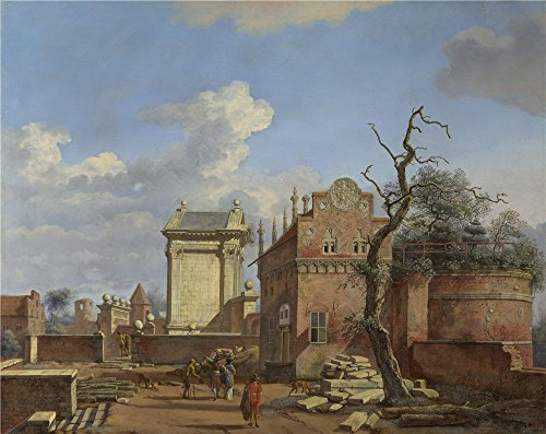 - Perfect Effect Canvas ,the High Definition Art Decorative Prints On Canvas Of Oil Painting 'Jan Van Der Heyden An Architectural Fantasy ', 12 X 15 Inch / 30 X 38 Cm Is Best For Kitchen Artwork And Home Decor And Gifts