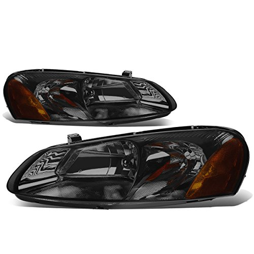 For Chrysler Sebring/Stratus Pair of Smoked Lens Amber Corner Headlight Replacement