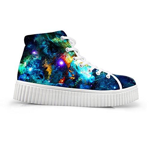 7 Sneakers Mixed Color Fashion Women HUGSIDEA Platform Colorful Galaxy Shoes anU7nvwqz