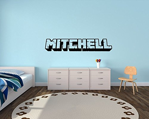 3D-Custom-Gamer-Name-Vinyl-Wall-Decal-Sticker-Art