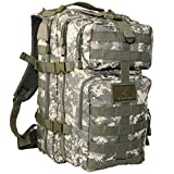 Exos Bravo Tactical Assault Backpack Rucksack. Great as a Bug Out Bag, Daypack, or Go Bag; for Hiking, or Camping. Molle equipped & hydration pack ready (Digital Camo) Review