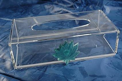 Porta pañuelos Kleenex dispensador de acrílico para pañuelos de papel Dim. 25lx13px7h cm.