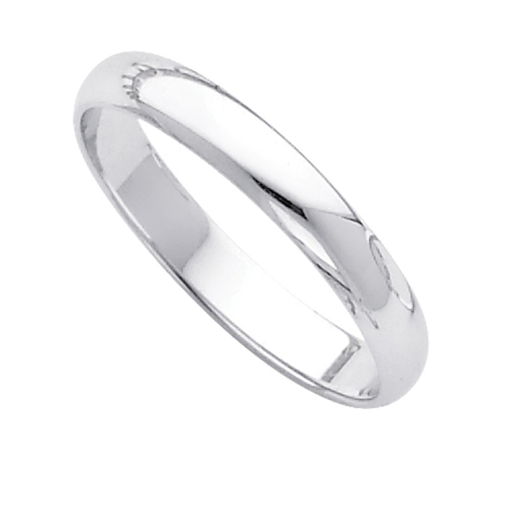 Dainty 14k White Gold Forever Classic Band Dainty 3mm Wedding Ring for Women, Size 11 by Classic Wedding Bands