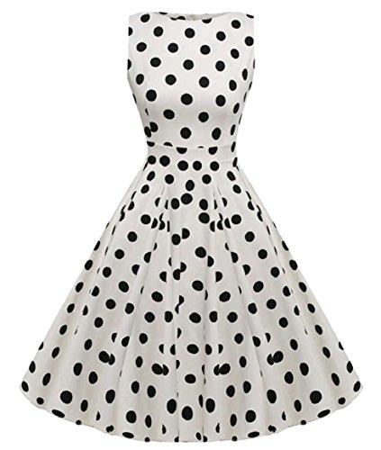 Sodossny Cocktail Hepburn Belt Sleeveless Summer AU Women Style 26 with Dress qUrRqf