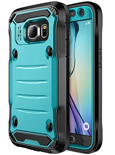 Galaxy S7 Case, E LV Samsung Galaxy S7 Hybrid Armor Protection Defender Case Cover with Built-in Screen Protector for Samsung Galaxy S7 - [Turquoise/Black]