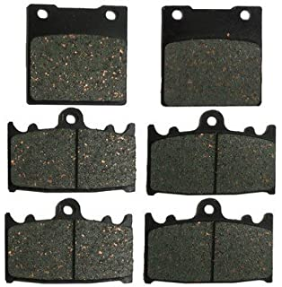 Foreverun Motor Front and Rear Brake Pads for Suzuki GSX-R GSXR 600 1997 1998