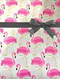Extra Long Pink Flamingo All Occasion Gift Wrap Wrapping Paper Large 18ft Roll
