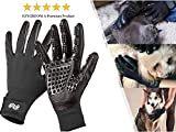 Pet Grooming Gloves - Pet Hair Remover - Left & Right -...