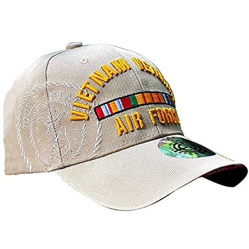 HANWILD Air Force Vietnam Veteran Baseball Hat Embroidered Adjustable US Army Cap (Baseball Embroidered Cap Veteran)