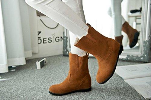 Ei&iLI Bottes femme Automne / Hiver confort PU robe augmenté Noir / Marron / Rouge / Camel Walking , brown , 37