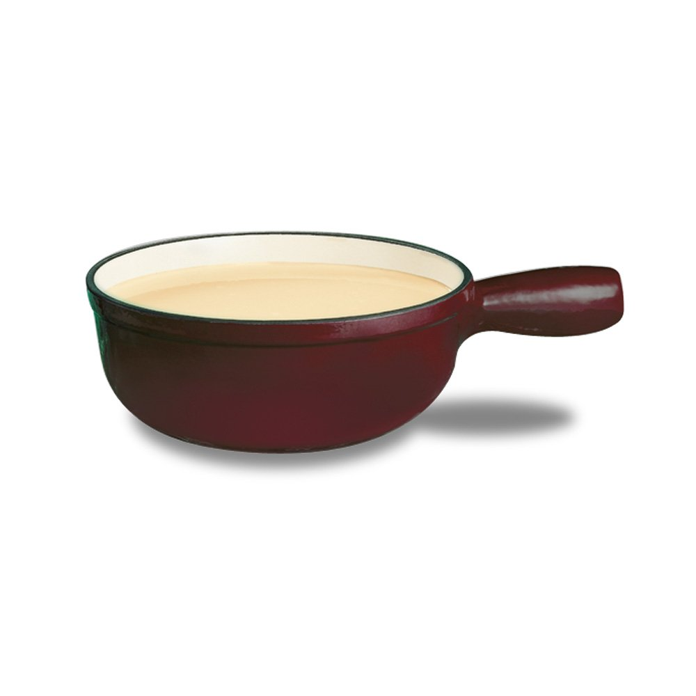 Swissmar F65004 Lugano 1-1/2-Quart Cheese Fondue Pot, Cherry Red