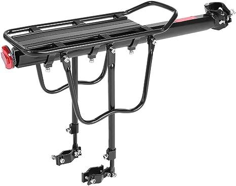 Dilwe Portaequipajes para Bicicleta, Universal, Ajustable, 50 kg, portaequipajes con Reflector para la mayoría de Bicicletas: Amazon.es: Deportes y aire libre