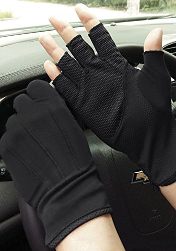 YLucky Lightweight Summer Fingerless Gloves Men Women UV Sun Protection Driving Cotton Gloves Antislip Breathable Touchscreen Gloves