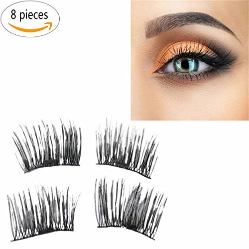 Luxe Supreme Glam Double Magnet - Magnetic Eyelashes - 3D Eyelashes 8 pieces - Supreme Beauty Queen Costume