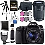 Canon EOS 80D DSLR Camera with 18-55mm Lens + Canon EF-S 55-250mm Lens + Canon 100ES EOS Shoulder Bag Bundle