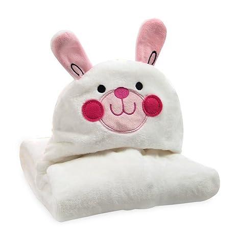 kvbaby franela suave – Albornoz baby – Manta con Diseño de Animales y capucha, niños