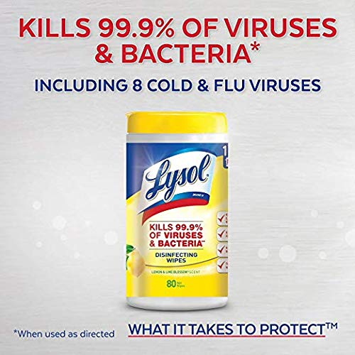 Lysol Disinfecting Wipes, Lemon and Lime Blossom Scent, 320 ct (4 x 80 ct) by Lysol (Image #2)