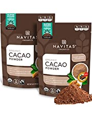 Navitas Organics Cacao Powder, 16 oz. Bags (Pack of 2)(packaging may vary)