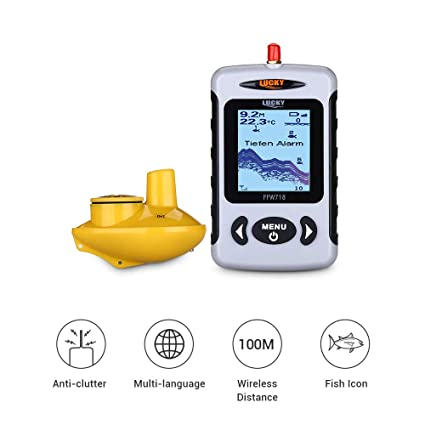 CWHALE Fish Finder Sounder Transductor 40M / 120FT ...