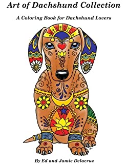 Amazon Darling Dachshunds A Doxie Dog Colouring Book For