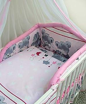 6-teiliges Baby Bettw/äsche Set 120x60cm mit dickem Kinderbett Schutz Muster 10