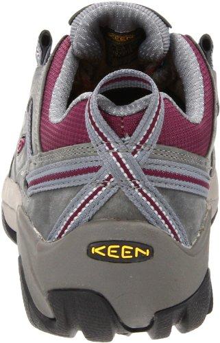 Keen Utility Womens Detroit Low Steel Toe Work Shoe Monument/Amaranth