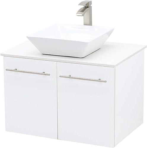 WindBay Wall Mount Floating Bathroom Vanity Sink Set