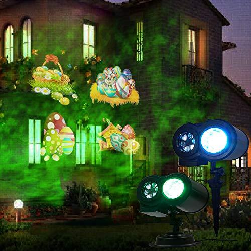 Christmas Projector Lights,CAMTOA LED Double Barrels Project