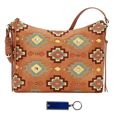Hobo West Golden Tan Allure Top Adobe Shoulder American Leather Zip Bag qgpwwCE