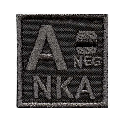 A NEG A- NKA Blood Type ACU Subdued Morale Tactical Army Embroidery Fastener Patch