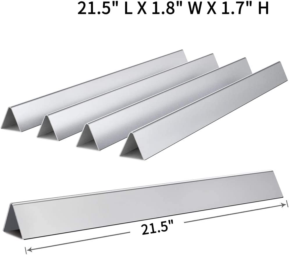 Spirit 500 Set of 5 Porcelain Steel Flavor Bar 7535 for Spirit E210 S210 Part Genesis Silver A X Home 7534-21.5 inch Flavorizer Bars Replacement for Weber Spirit 200 210 Series with Side-Control