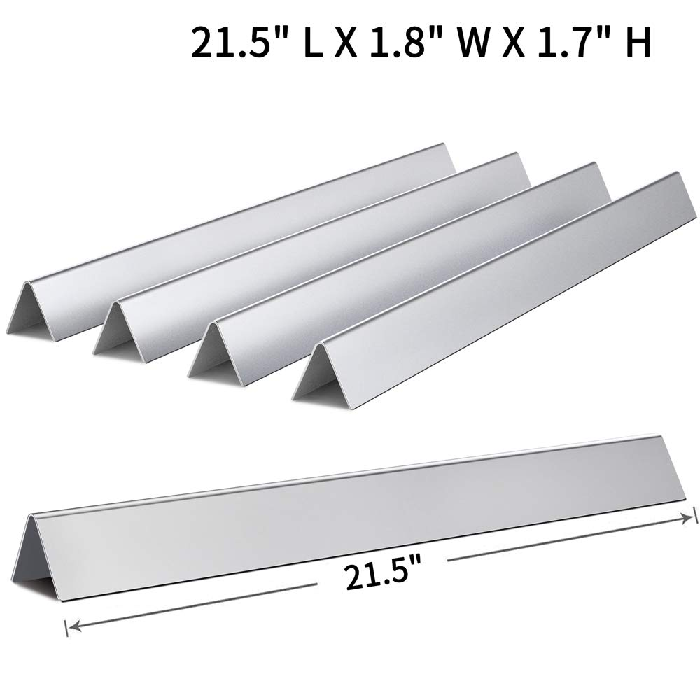 SHINESTAR 7534-21.5 inch Grill Parts Replacement for Weber Spirit 210 E210 Flavorizer Bars with Side Control Knobs, Stainless Steel Flavor Bars 65902 (5 PK, SS-WB002) by SHINESTAR