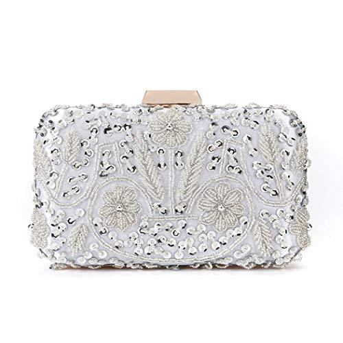 Manyysi Flower Box Clutch Sequined Evening Bag Wedding Party Handbag Clutch Purse