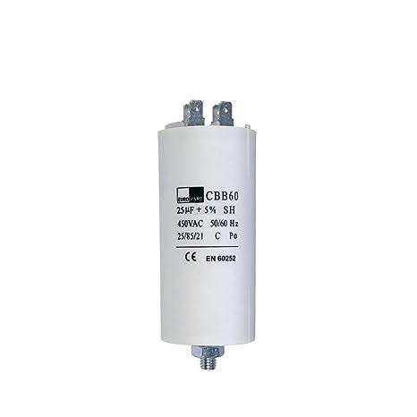 Condensador condensador de arranque CBB60 25,00µf mikrofarad 450 V ...