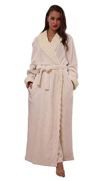 Batas Unisex Pareja Ocasional Pijamas Mujer Otoño Invierno Basic Hombre Mujer Espesar Camisones Manga Larga V-Cuello con Bolsillos Cinturón Pijama Kimono ...