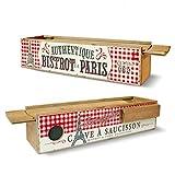 Natives Bistro De Paris 211178Sausage Cellar with Knife 31cm x 8.5x 7.5cm Wood/Multi-Coloured