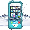 ZVE iPhone 5S / SE Waterproof Case, Shockproof Durable Protective Full Body Case Cover for Apple iPhone SE / 5S (iPhone 5S/SE-Light Blue)
