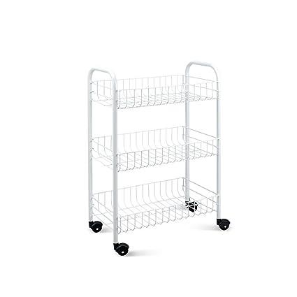Metaltex SIENA - Carro multiuso para cocina y baño con ruedas y 3 ...