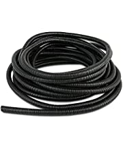 Wire Conduit Hose Wire Harness Wrap Cover Sleeve Conduit Wire Conduit Corrugated Tube Conduit PP Polyethylene Tubing Flexible Pipe Hose (25ft-1/4)