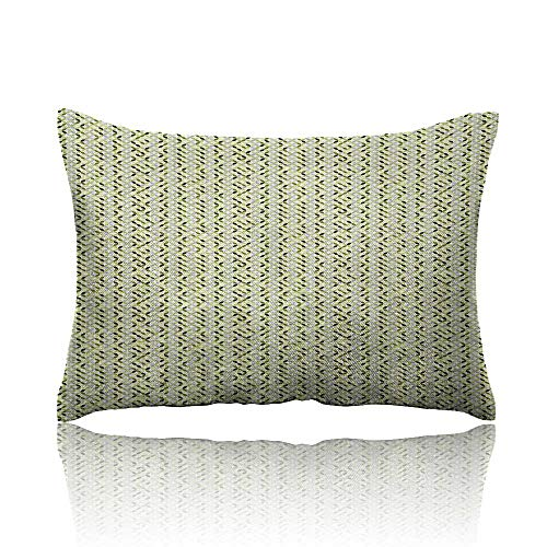 Anyangeight Abstract Throw Pillowcase Overlapping Circles in Green and Grey Shades Abstract Symmetric Tile Cold Pillowcase 13