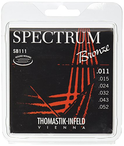 Thomastik-Infeld SB111 Acoustic Guitar Strings, Spectrum Series 6 String Set (11-52) E, B, G, D, A, E