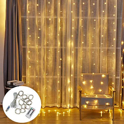 Allamp 3M LED Fairy Lights Garland Gordijn Lamp Afstandsbediening USB String Lights Garland On The Window Christmas…