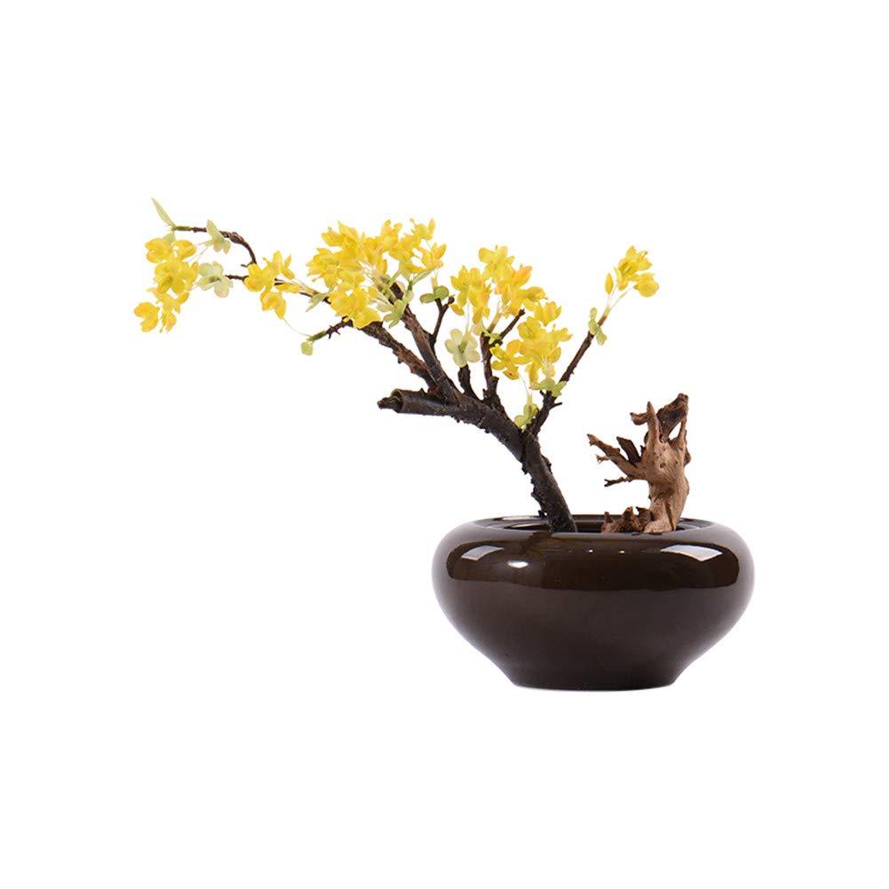 CITW Simple Art Yellow Fruit Tree Bonsai Bonsai Desktop Ornaments Modern Minimalist Home Furnishing OrnamentsOffice Gift